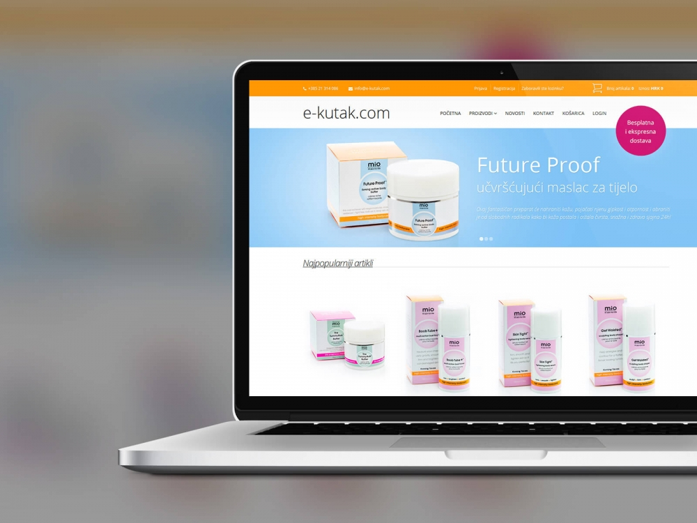 E-kutak web shop